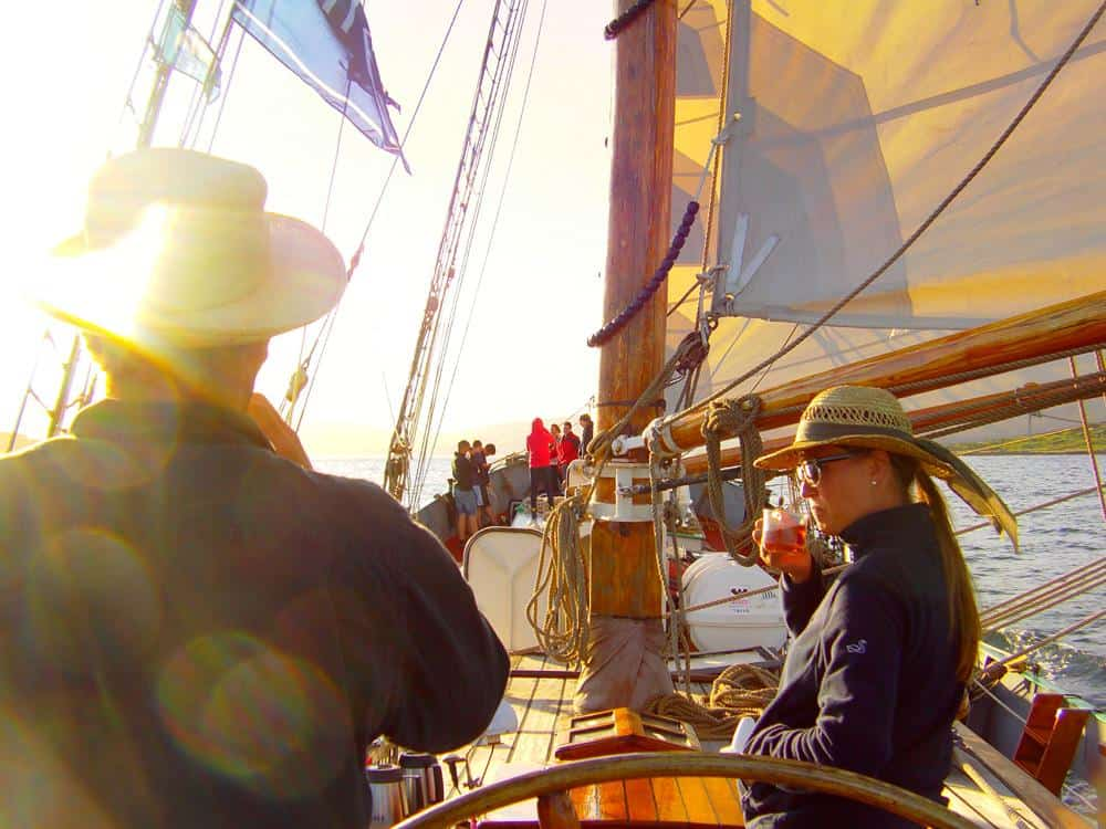 Life on board Tecla is a mix of active sailing holiday and exploring ashore