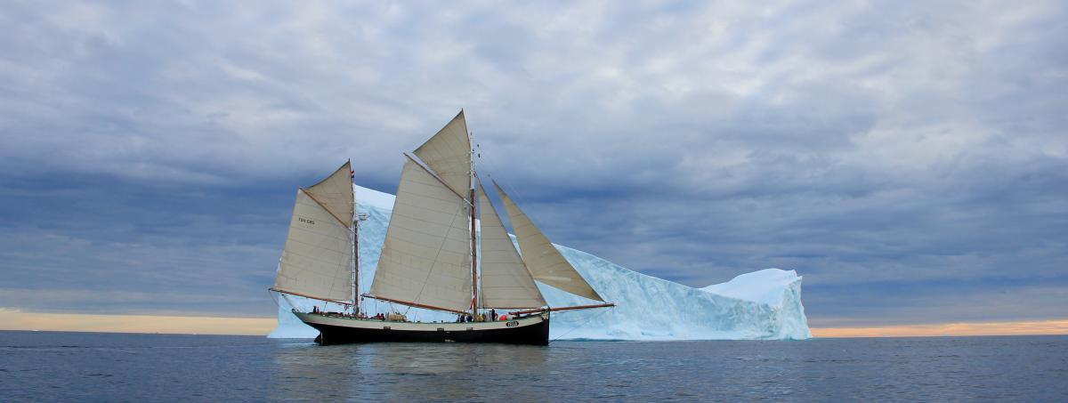 Greenland sailing on tall ship Tecla