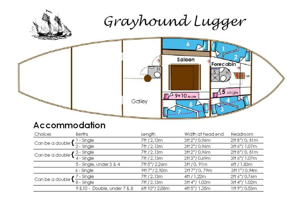Grayhound Layout and bunk sizes