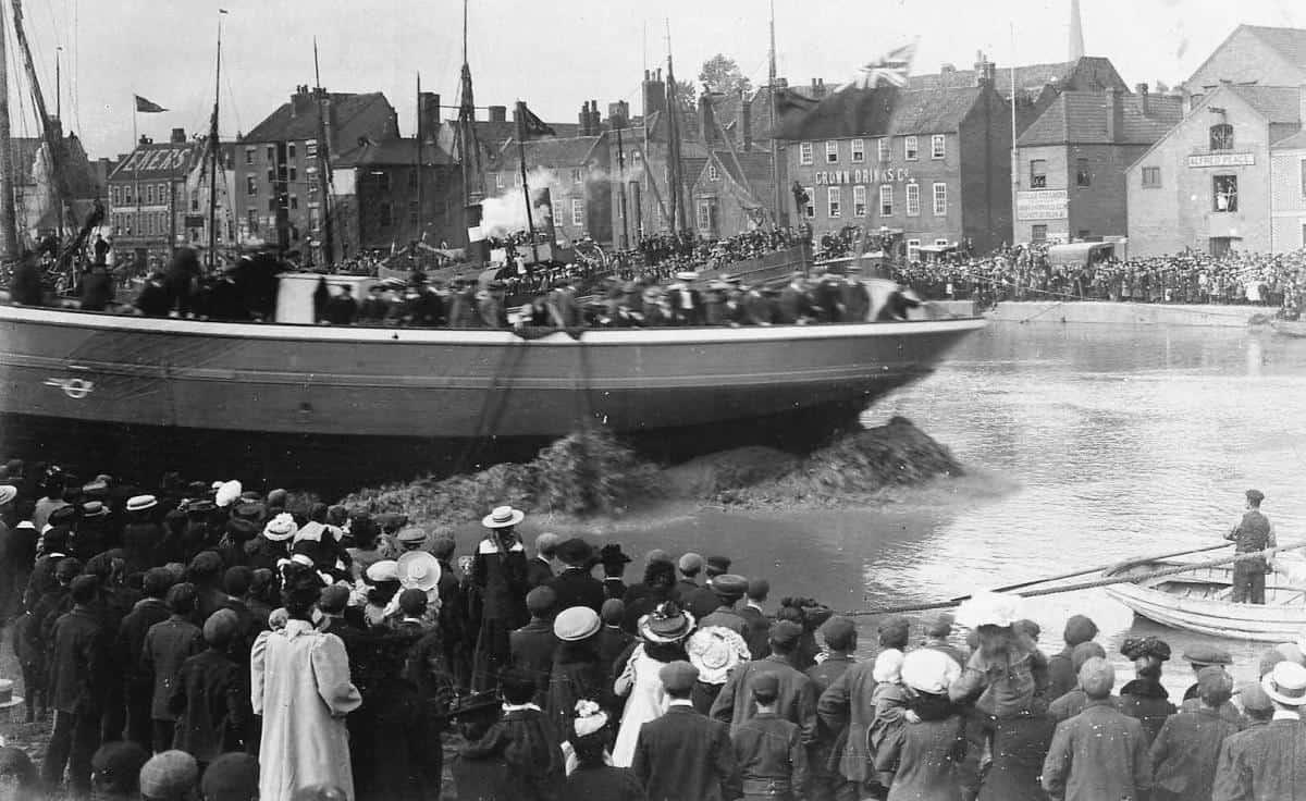 Ship launch Day in 1907 - Irene of Bridgewater