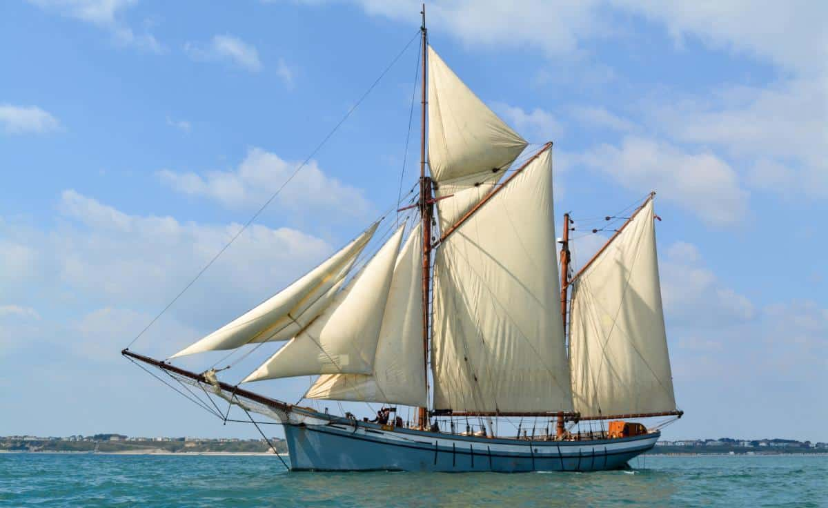 Irene under full sail