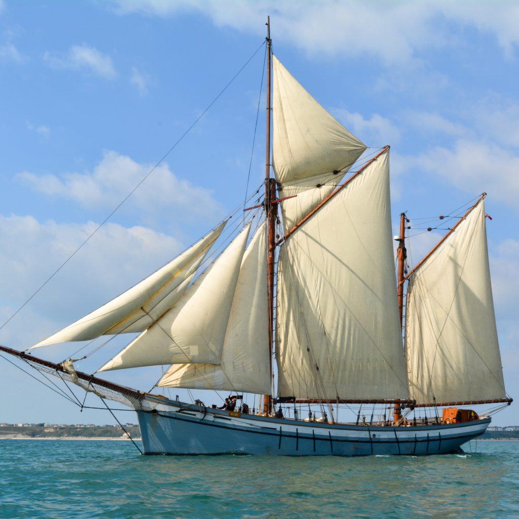 Irene under sail