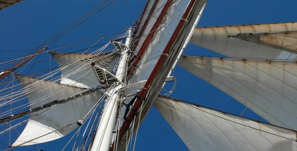 Tall Ship Antigua - View aloft