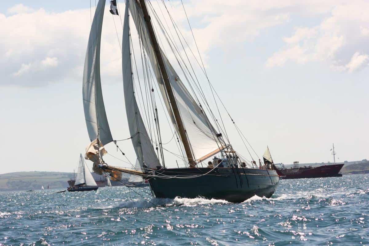 Pegasus Pilot Cutter under sail.