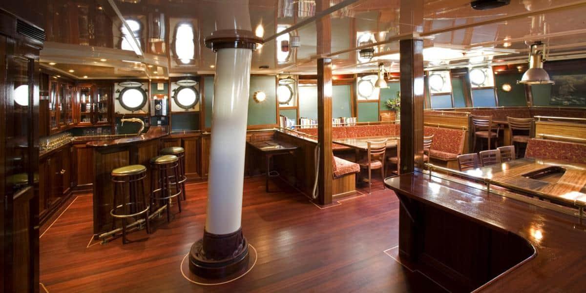 Elegant saloon on tall ship Antigua