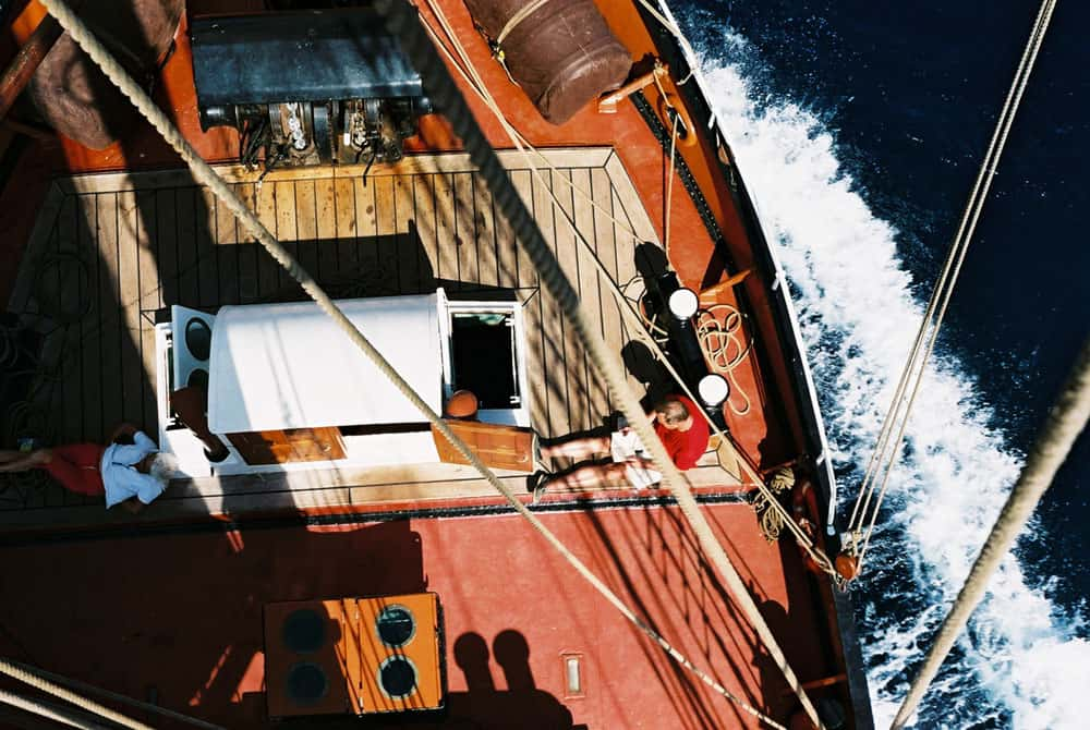 Three masted topsail schooner Oosterschelde