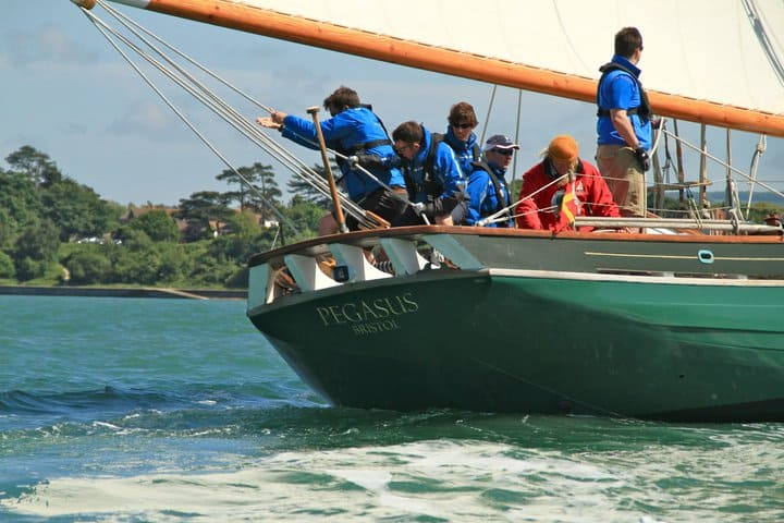 Pegasus is a new wooden Pilot Cutter.