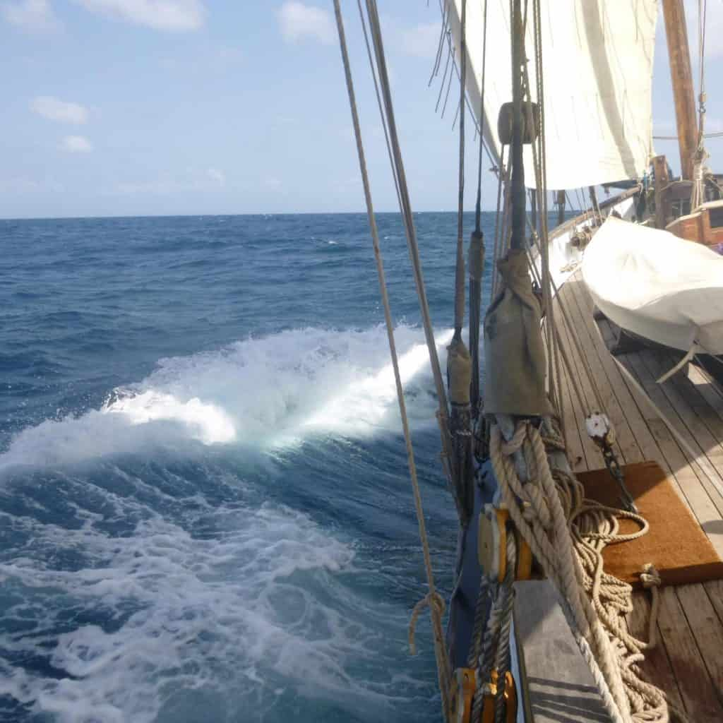 Grayhound's voyages range from sailing the Cornish waters to the Caribbean.