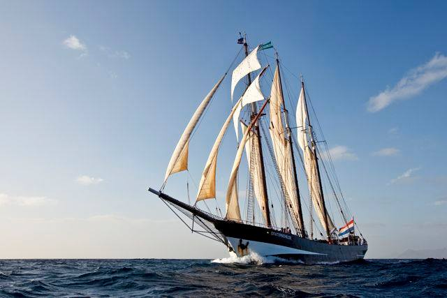 Try a three masted schooner for your first ship