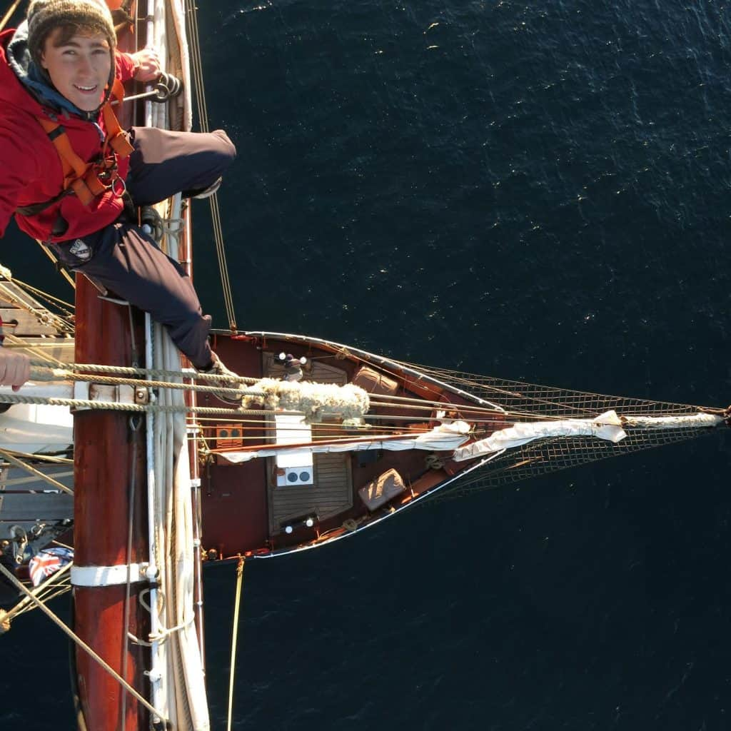 Going aloft after training is a real buzz