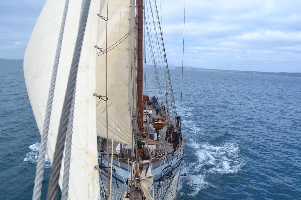 Irene under sail.