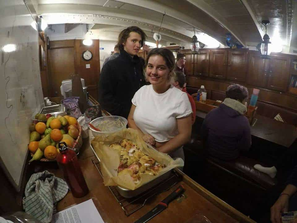 Great food on board during the voyage.