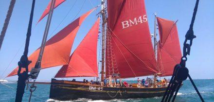 Pilgrim is a 74ft wooden Brixham Trawler.