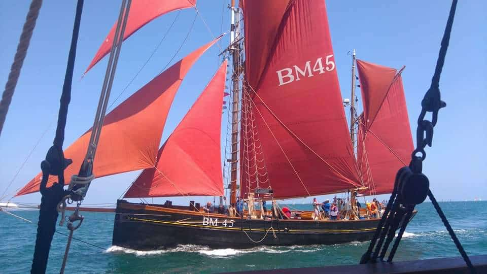 Pilgrim is a 74ft wooden Brixham Trawler.
