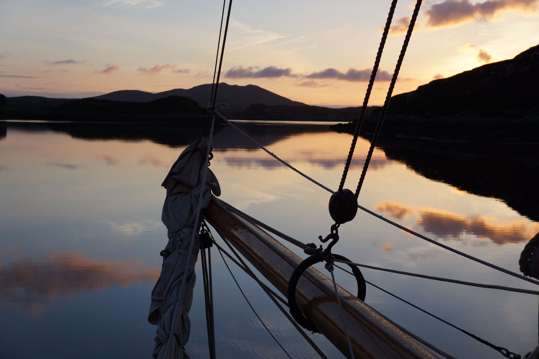 Eda Frandsen, sailing in Scotland