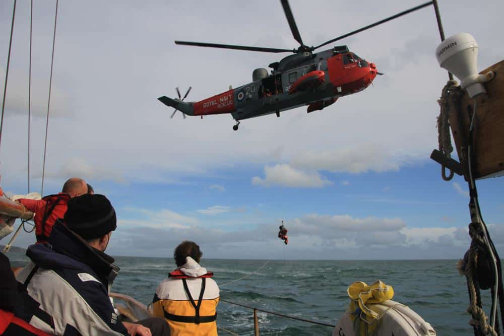 How to deal with emergencies offshore is covered in theory
