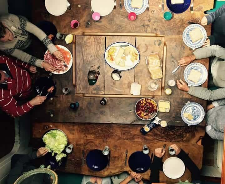 saloon table on Grayhound