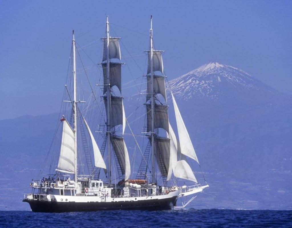 Tall Ship and Mt Tide