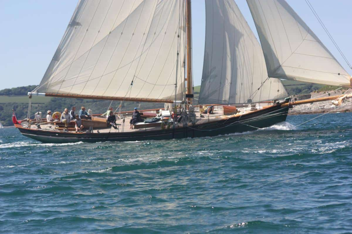 Pegasus has plenty of room on deck to move around and looks stunning under sail.
