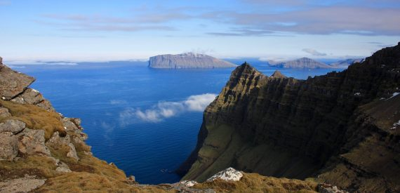 Tecla crew Scaling summits on Faroes
