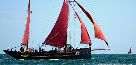 Pilgrim under sail