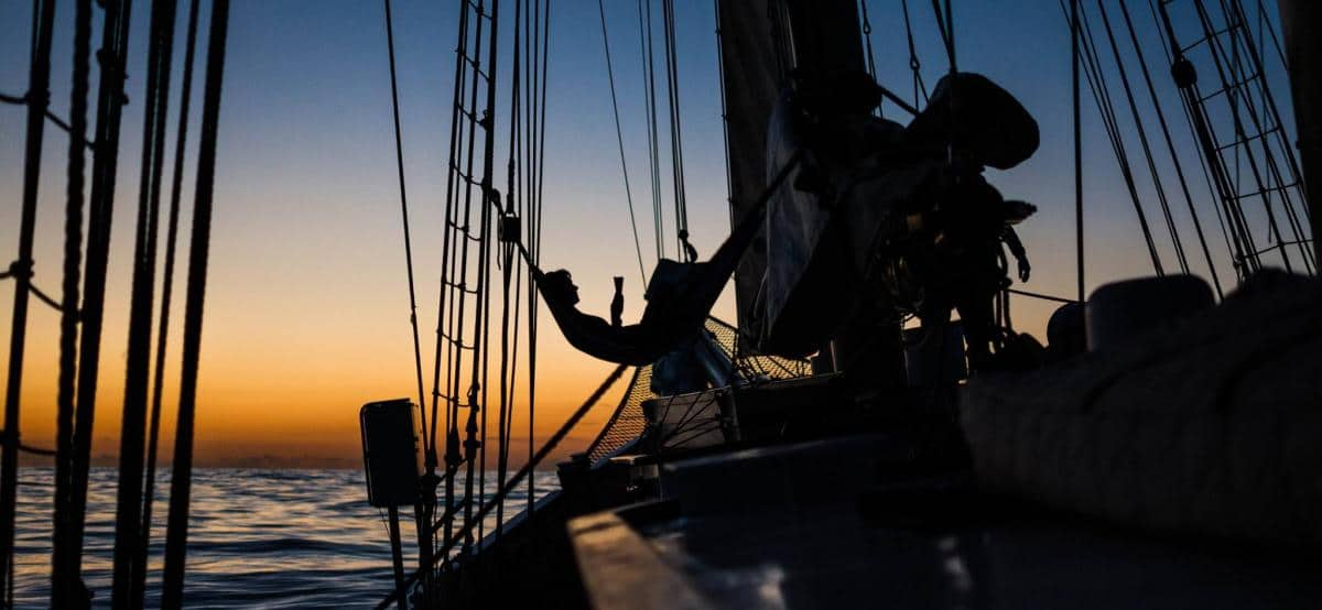 Hammock on Blue Clipper crossing the Atlantic 2017