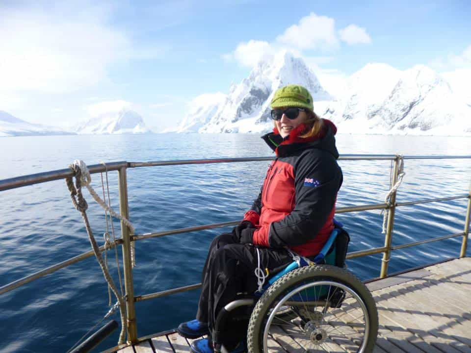 These wheels are made for exploring. Disabled crew in Antarctic