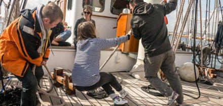 sail on blue clipper