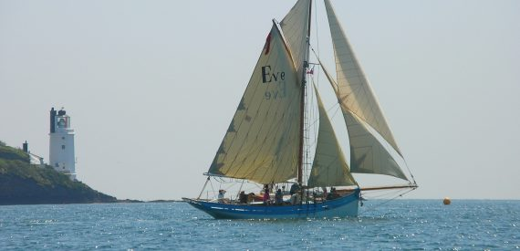 Eve of St Mawes. Classic Sailing Flagship
