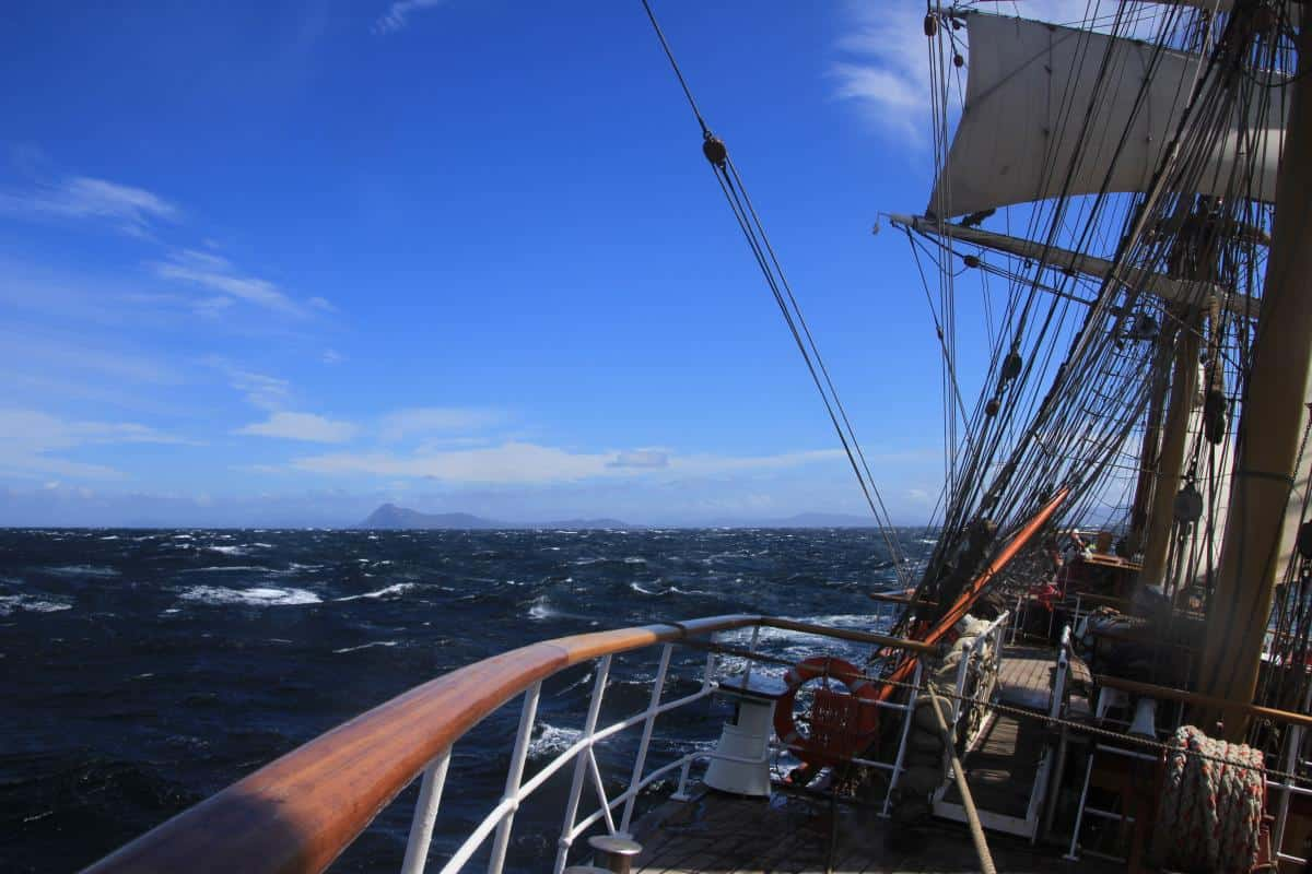 Cape Horn from the decks of Bark Europa