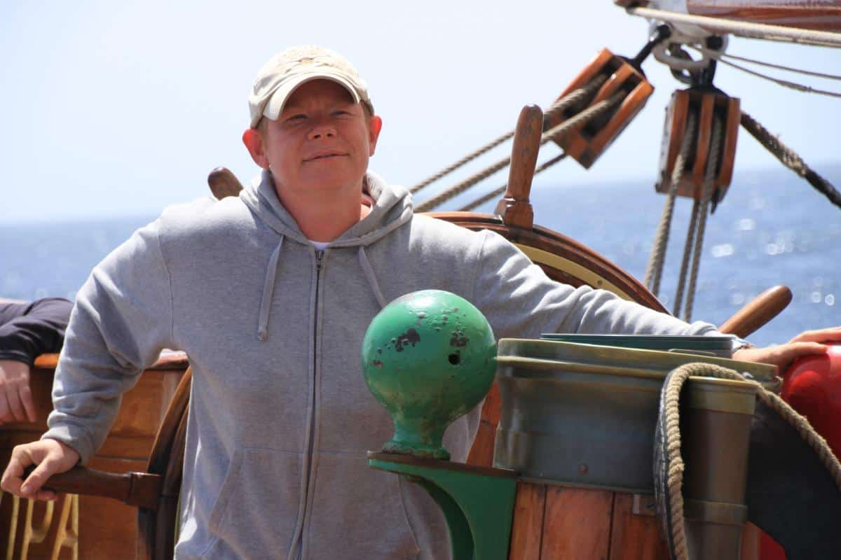 Kate the Theatre Stage Builder sailing from NL to Antarctica on Europa