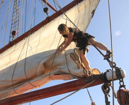 Career sailor on tall ships like Oosterschelde