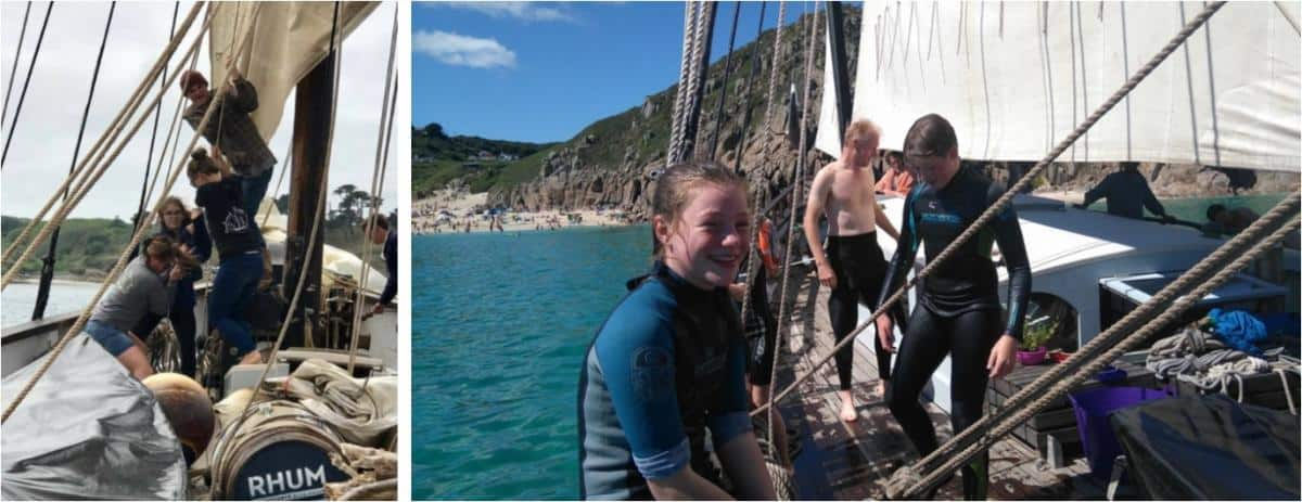 Sailing in West Penwith, Cornwall  on Grayhound