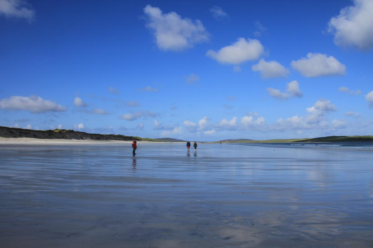 Scotland Outer Hebrides - North Uist beaches going on for miles