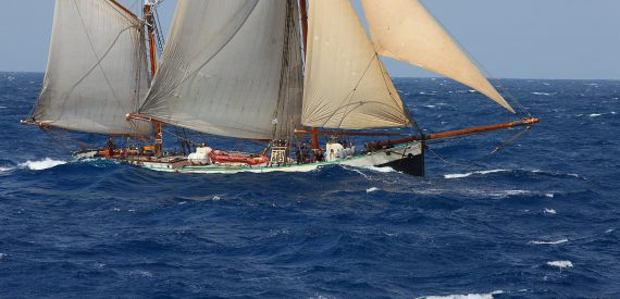 Tecla at sea