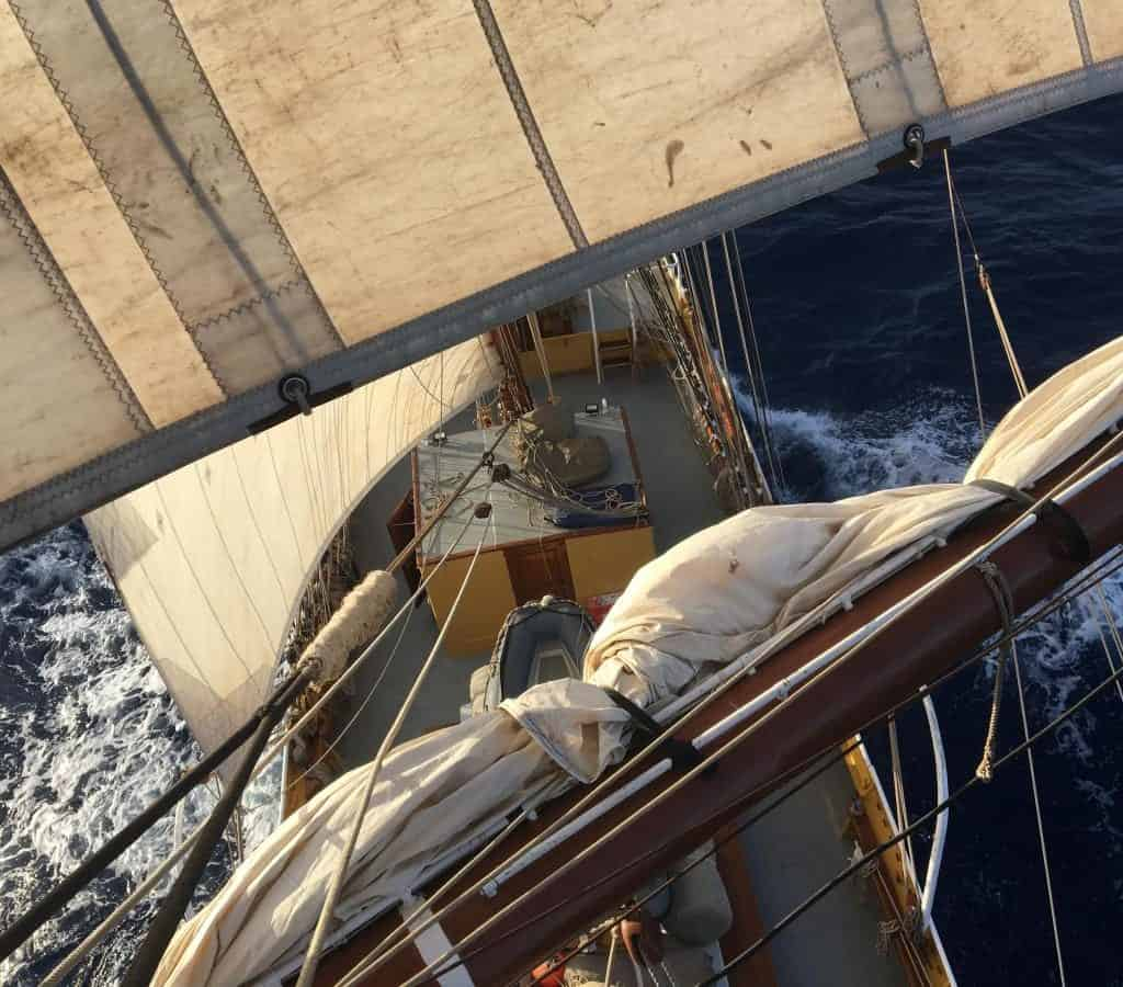 The Caribbean on a Tall Ship Sailing Morgenster with Classic Sailing