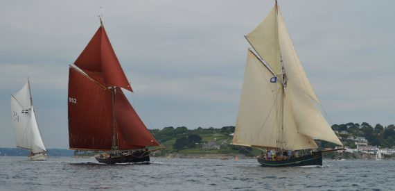 Agnes and Jolie Brise jostle for first place at last years Pilot Cutter revew
