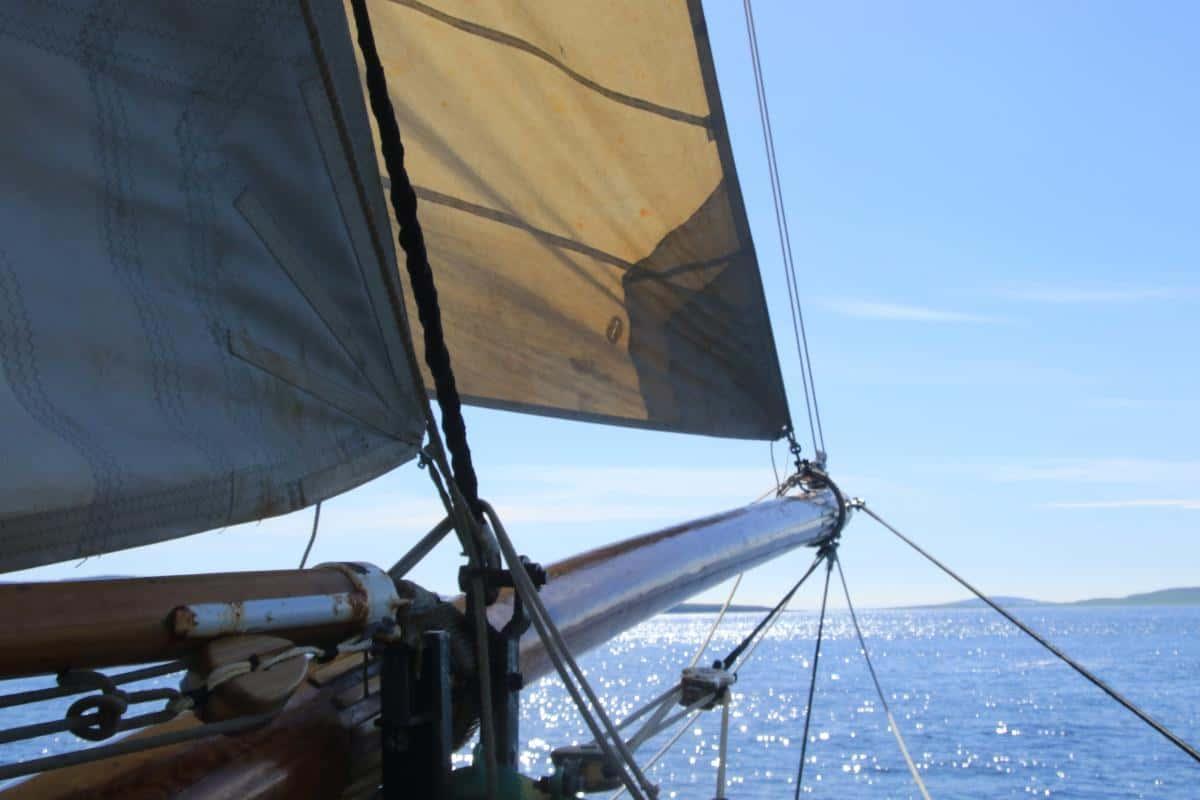 Tecla sailing in Scapa Flow, Orkney
