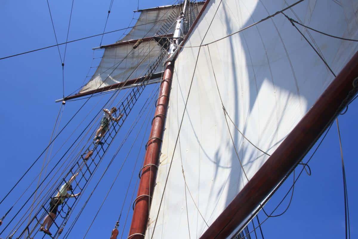 ratlines on Oosterschelde - a three masted topsail schooner