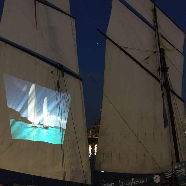 Sails and Cinemas on Grayhound
