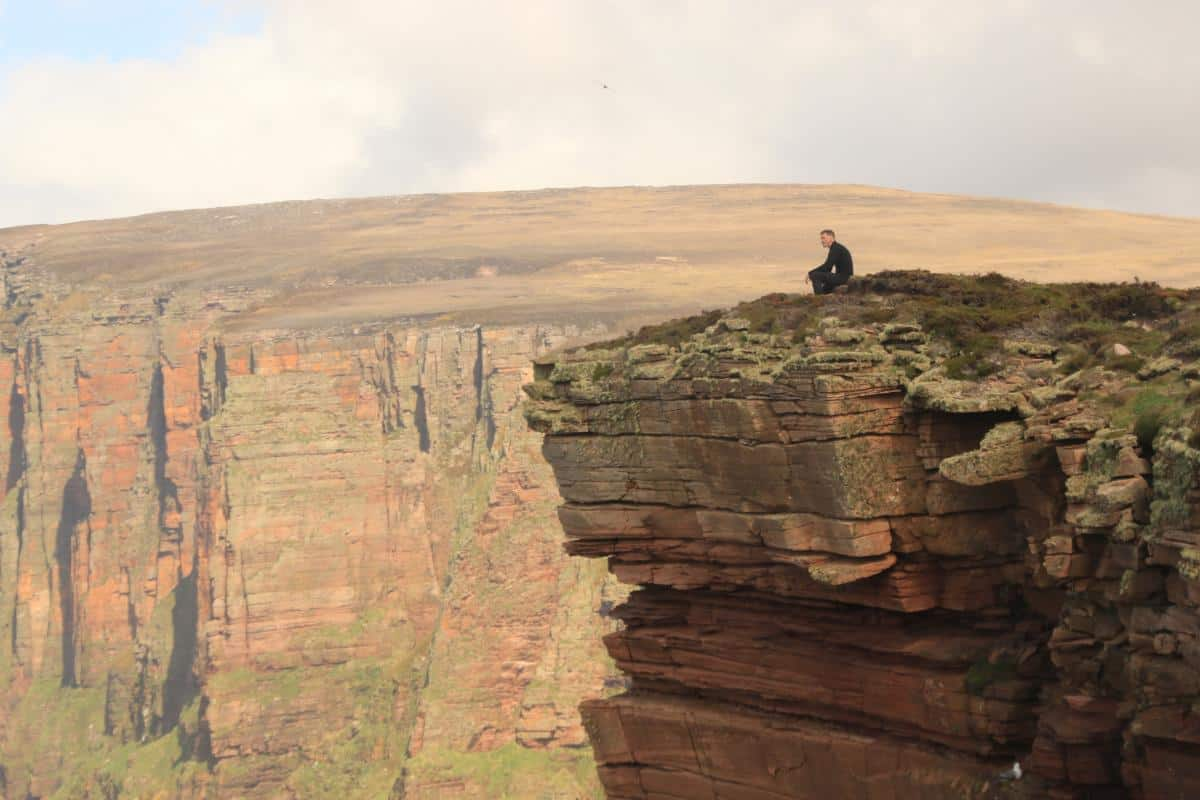 Red cliffs on Hoy, Orkney