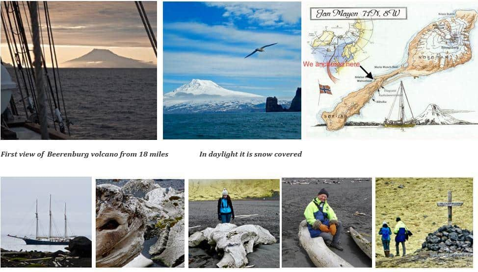 Photos from their time in Jan Mayen