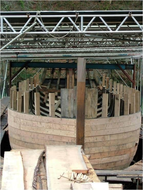 Imagine Steam Bending those hull planks at the bow.