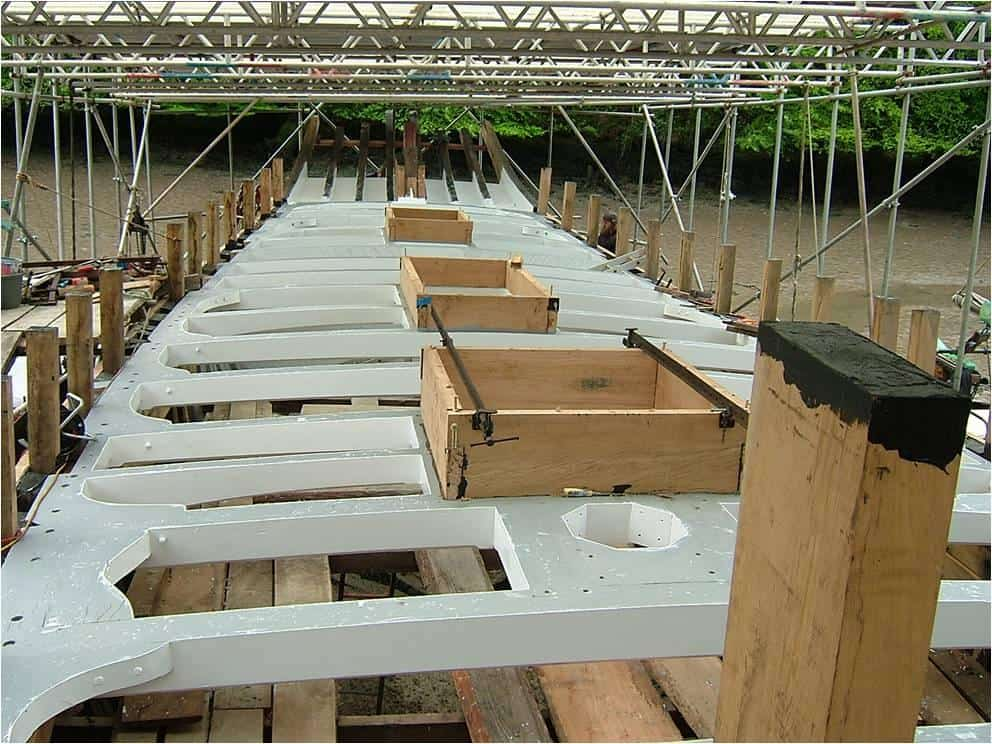 Deck beams and bulwarks supports - all massive timbers