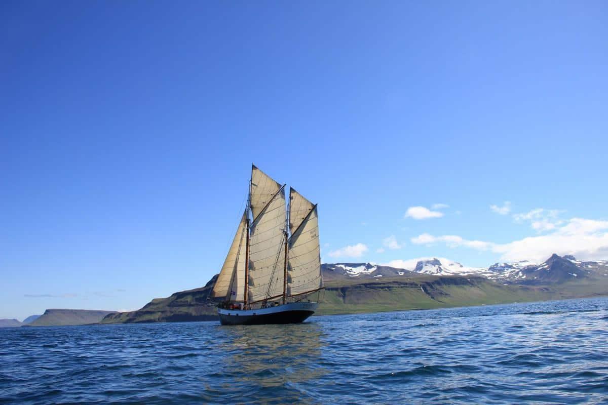 Tecla sailing the Breidafjordur