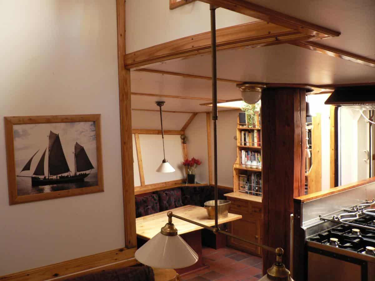 Tecla interior - galley, saloon and social area