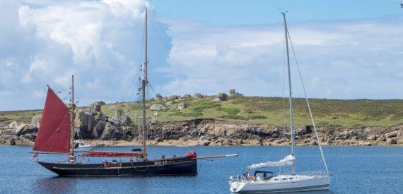 Pilgrim anchored in the Scillies