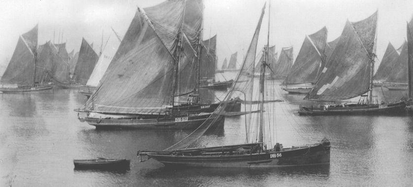 Historical image of Brixham Trawlers