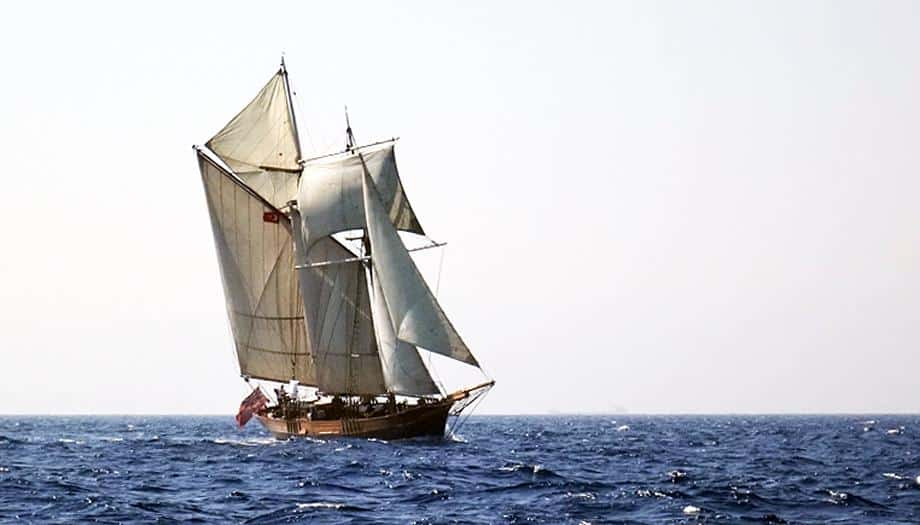 sailing offshore on Johanna Lucretia