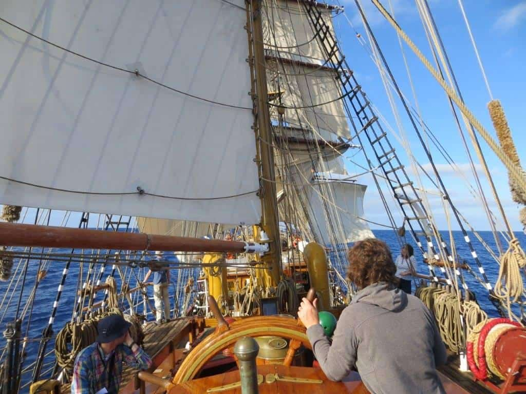 Tall ship Europa making her way south to Antarctica